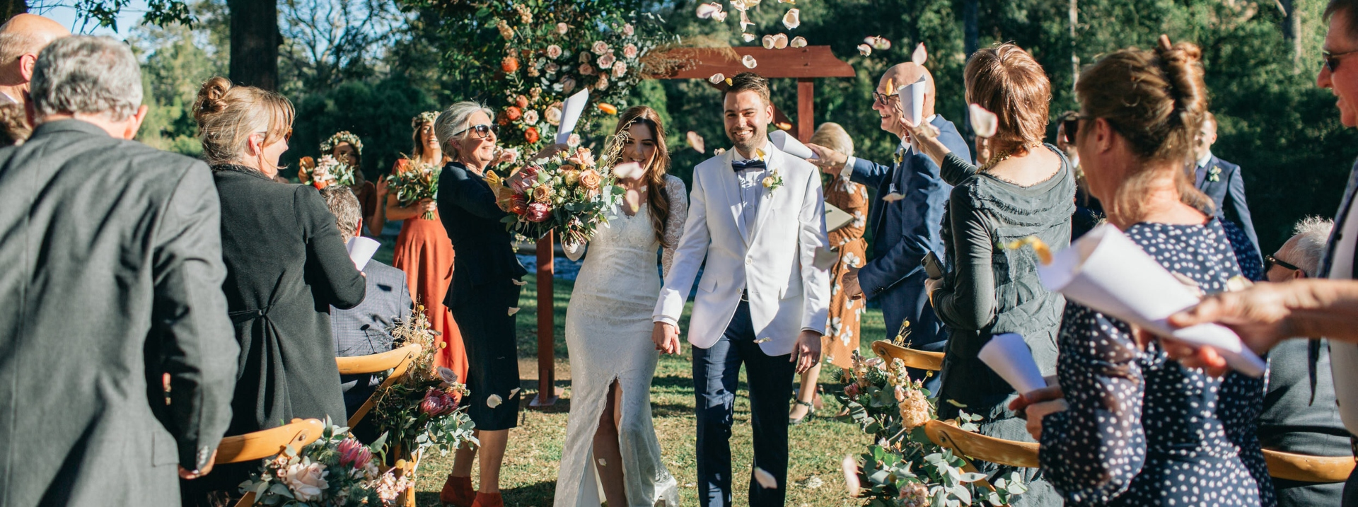 Petal shower for those just married feels