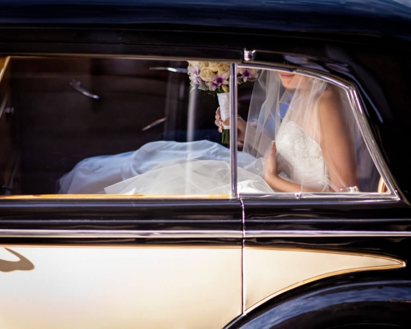 A few pre-wedding nerves on her way to marry the man of her dreams.