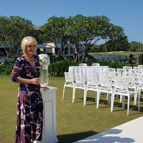 Sublime ceremony styling for Jane & Laurie's Wedding at The Glades Golf Course, Gold Coast