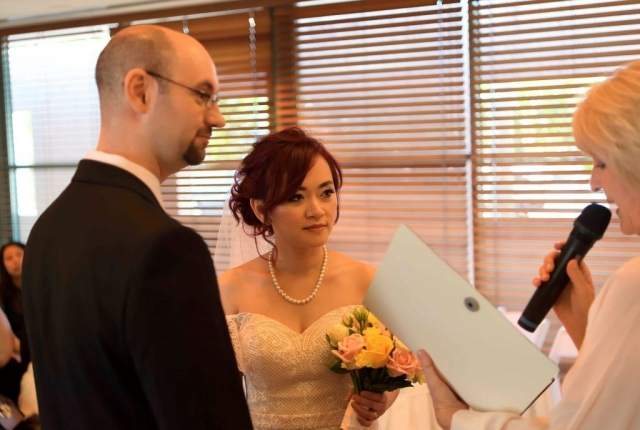 Beautiful ceremony at The Chapel, Crowne Plaza Hotel, Surfers Paradise, Gold Coast