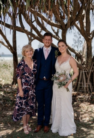 All the way from Scotland for their destination Wedding at Kingscliff, NSW